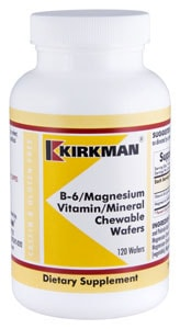 B-6 Magnesium Vitamin Mineral Wafers - 120 chewables