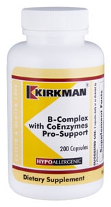 B-Complex with CoEnzymes Pro-Support - Hypoallergenic - 200 capsules