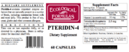 Pteridin-4 (2.5mg) - 60 capsules (formerly BH4 - TetrahydroBiopterin)