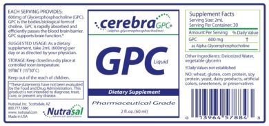 Cerebra GPC - 2oz - INGREDIENTS