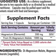 Magnesium Malate 1000 mg - Hypoallergenic - 120 capsules - INGREDIENTS