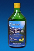 Norwegian Cod Liver Oil 16.8 fl oz (500 ml) - Lemon