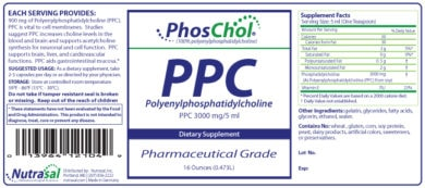 PhosChol Liquid Concentrate - 16oz Liquid - INGREDIENTS