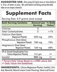 IP-6 with Calcium and Magnesium - Flavored Powder - 414 grams - INGREDIENTS