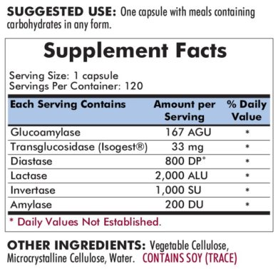Carb Digest™ with Isogest® - 90 capsules - INGREDIENTS