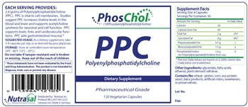 PhosChol (600mg Vegetable) - 120 capsules - INGREDIENTS