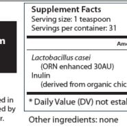 LactORN: Lactobacillus ORNs - 107 grams (3.7 oz) powder - INGREDIENTS