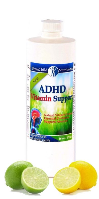 ADHD Vitamin Support Formula (Lemon-Lime) - 16oz