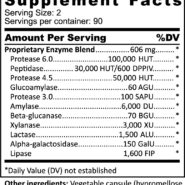 Advanced Multi-Enzyme - 180 capsules - ingredients