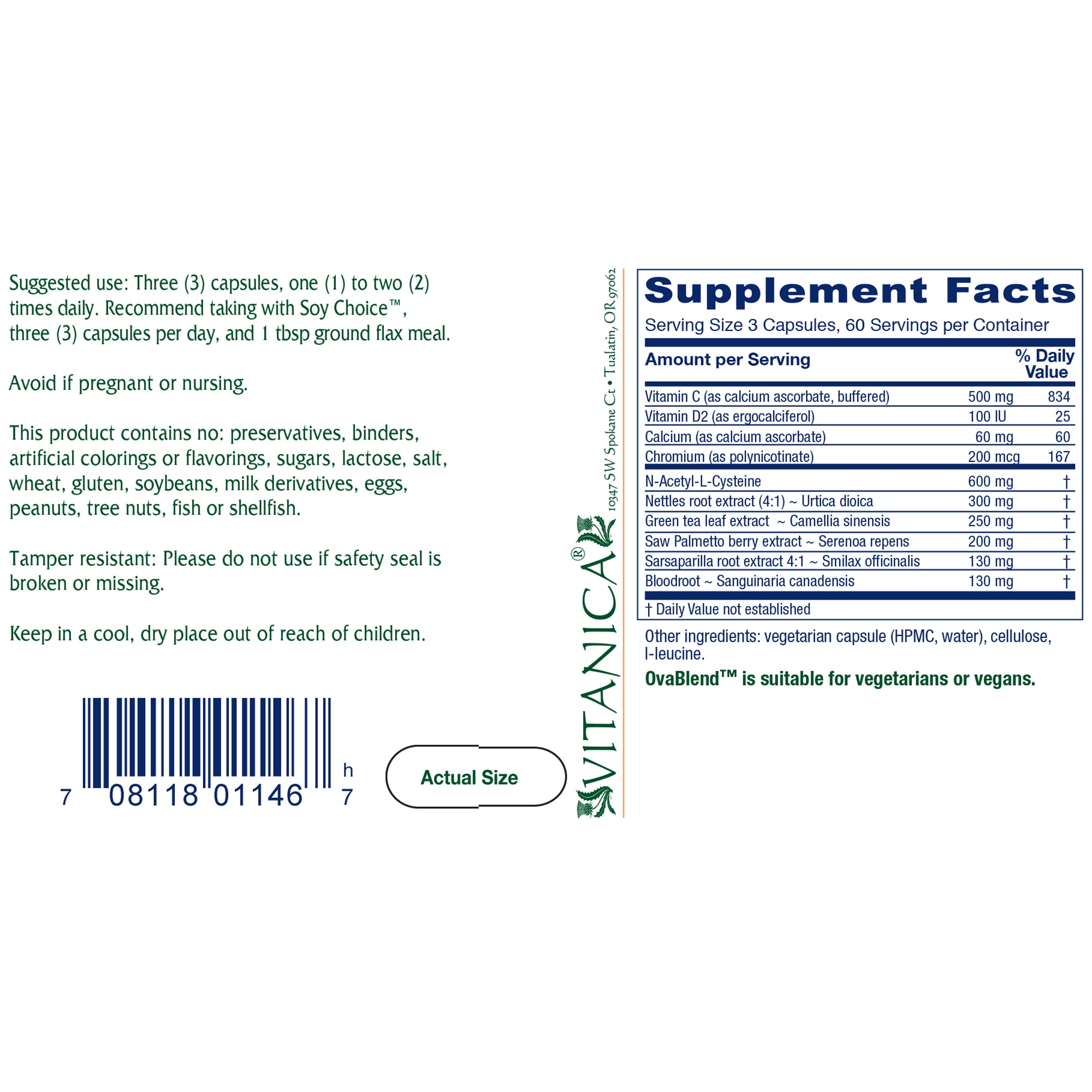 OvaBlend (PCOS Blend) - 180 capsules