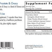 Healthy Prostate and Ovary- ingredients